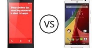 Xiaomi Redmi Note vs Moto G 2014