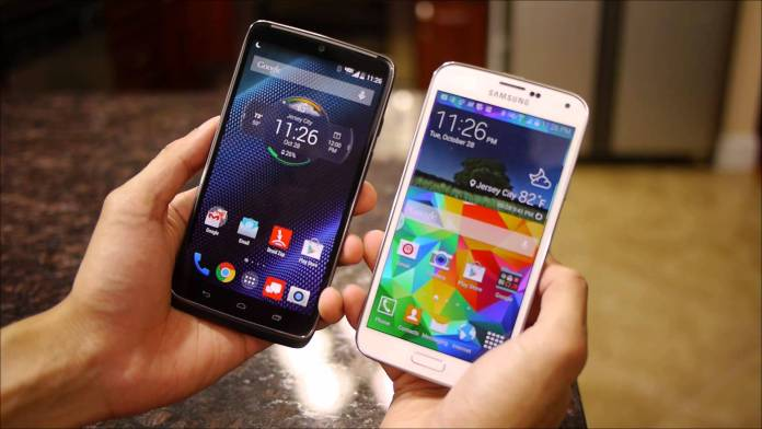 Samsung Galaxy Note 4 vs Motorola Droid turbo comparison