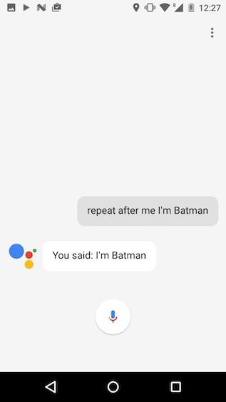 Get Your Words Repeated on google assistant