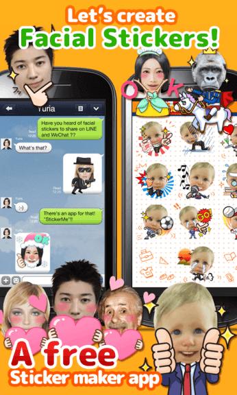 Stickyme free selfie emoji