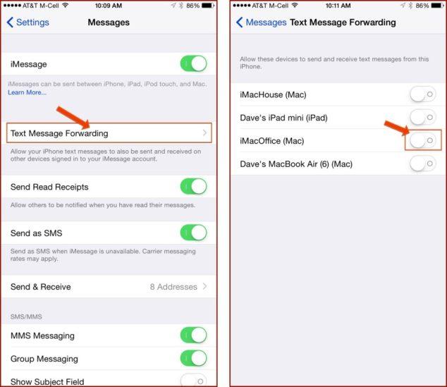 Text Messaging Forwarding