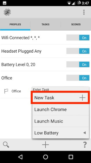 create a new task