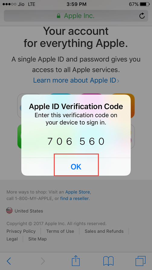 Two Step Authentication For iPhone In iOS 10 3  Complete Guide enter apple id verification code