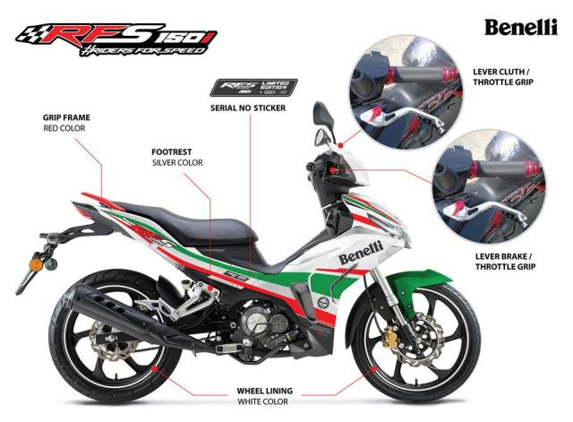 2018 Benelli RFS150i Limited Edition in Malaysia - RM7,388