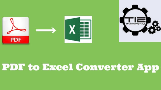 PDF to Excel Converter App for IOS & Android