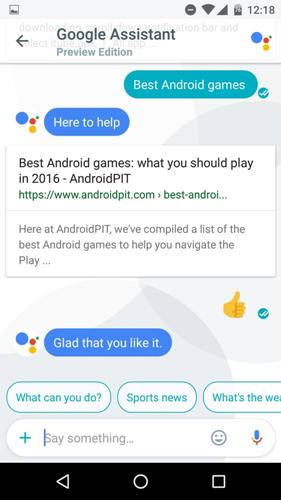 Google Search using Allo