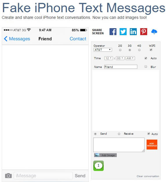 iphone text generators fake text generators for iphone 4 5 6 7