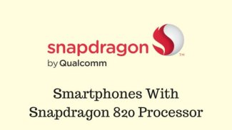 Smartphones with Snapdragon 820 processor