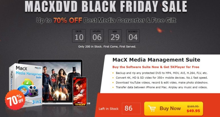 MacxDVD Black Friday Sale