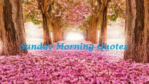 Motivational Sunday Morning Quotes And Sayings
