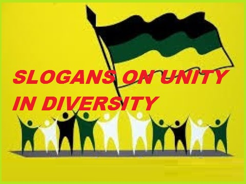 Slogans on Unity in Diversity in English for Students