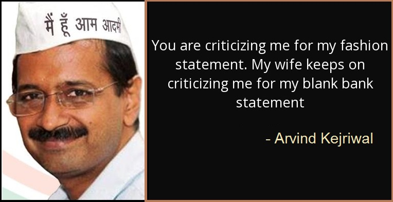 You are criticizing me for my fashion statement. My wife keeps on criticizing me for my blank bank statement.