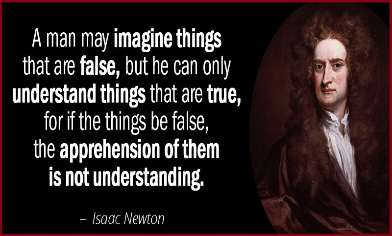"""""""A man may imagine things that are false, but he can only understand things that are true, for if the things are"""" false, the apprehension of them is not understanding."""""""