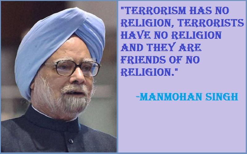 Manmohan singh Terrorism Quotes And Sayings