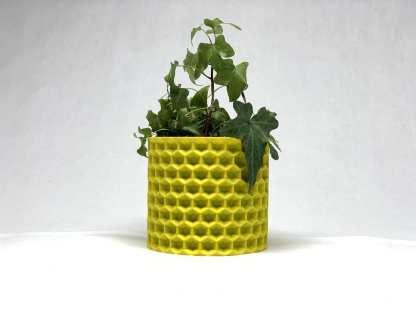 Queen Bee Artistry Yellow Unique Planter Honeycomb