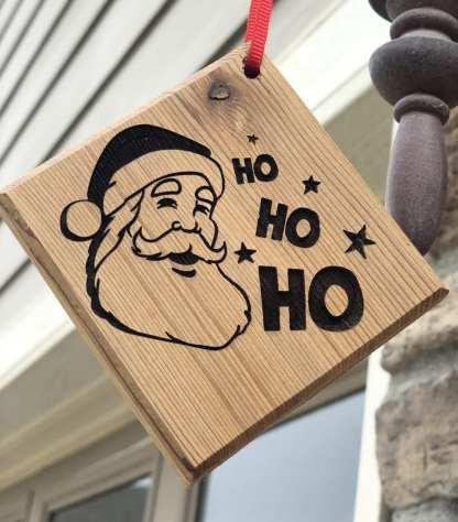 Santa Ho Ho Ho Ornament