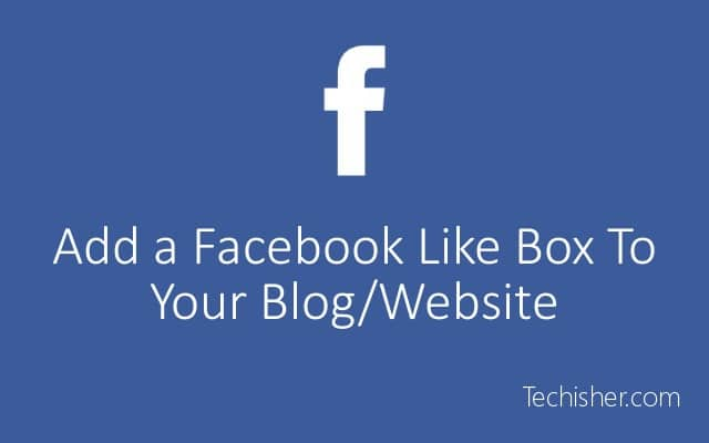 Add facebook like box widget to website sidebar post pic