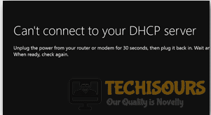 "To display Xbox One ""Can't Connect to Your DHCP server"" error."