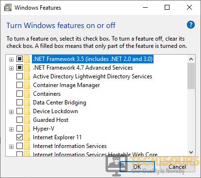 Select the framework for resolving Windows Update Error 80080005 issue