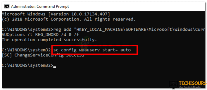 Type the command shown in cmd
