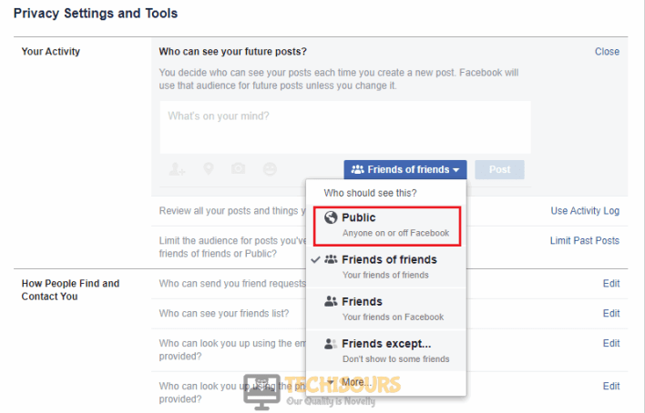 "Click on Future Post to correct ""facebook attachment unavailable"" problem"