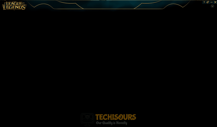 black screen league client