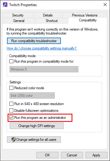 Run this program as an administrator to fix the Discord Cutting out issue