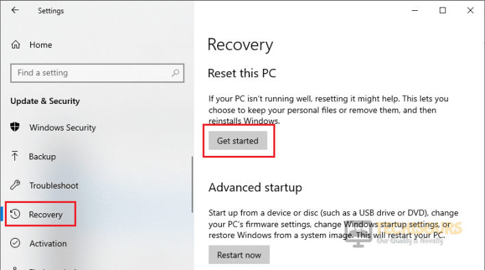 Reset your PC to rectify error code broccoli