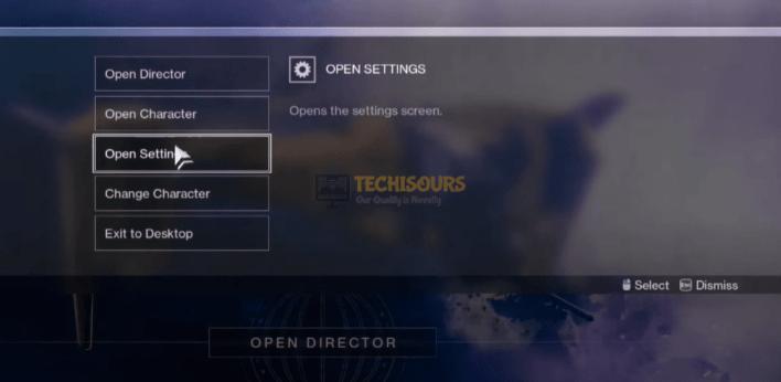 Choose open Settings to fix error code broccoli