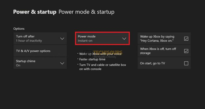 Clicking Power Mode