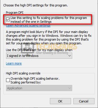 Change DPI settings to fix error code broccoli