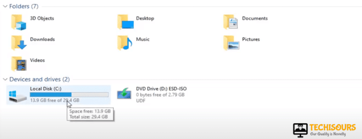 Select Local Disk C