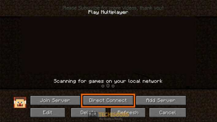 Direct Connect to fix minecraft failed to authenticate your connection issue
