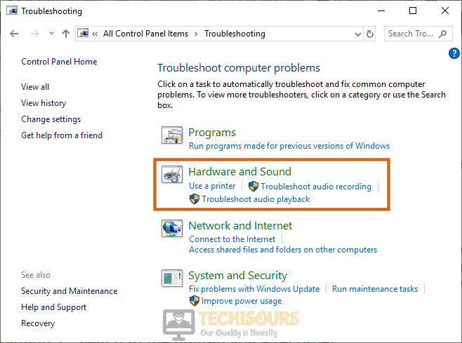 Troubleshoot hardware to fix audacity error opening sound device
