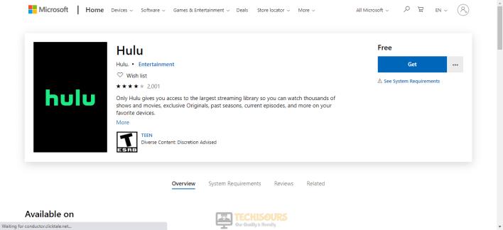 Reinstall the Hulu app