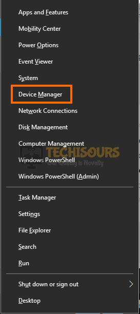 Choose Device manager to get rid of audacity error opening sound device