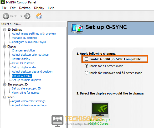 Disable G-sync in NVIDIA to resolve dev error 6178 modern warfare
