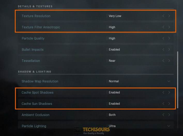 Tweak game settings to fix dev error 6178 modern warfare