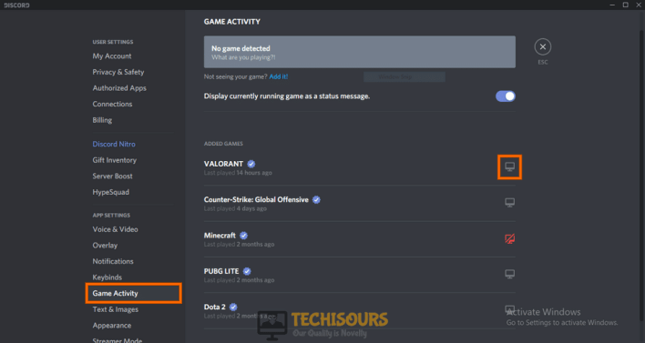 enable or disable the overlay for that particular game