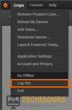 Log out from origin to fix origin error: 327683:0