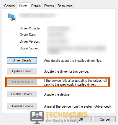 Rollback Driver to fix windows doesn't have a network profile for this device issue