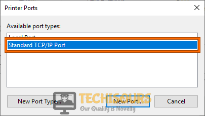 Standard TCP/IP Port