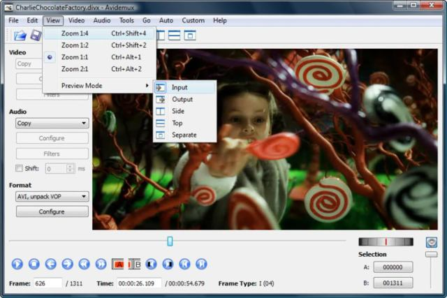 AVIDEMUX video editing application for free