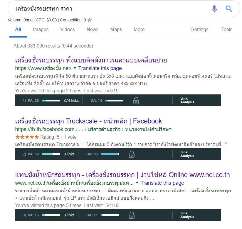 are backlinks still important - first result serp