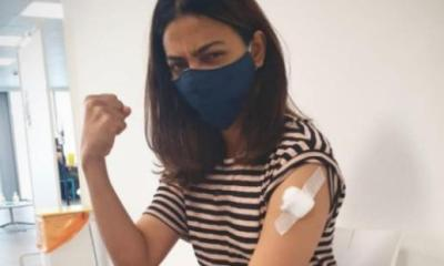 SEE PHOTO: Radhika Apte receives first dose of COVID 19 vaccine; Says 'Jabbed finally'