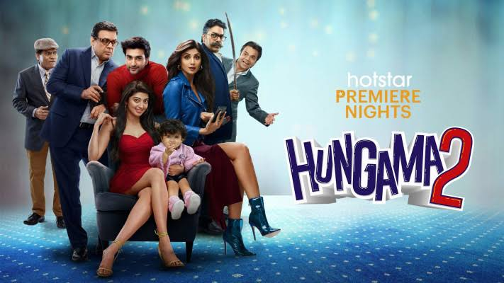 Hungama 2 passes more than 7.6 million views in a week, topping the list of most watched movies of the week.