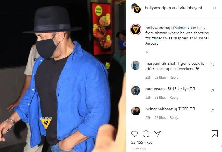 Salman khan is being trolled after returning from the shooting of tiger 3 his mask became the reason an