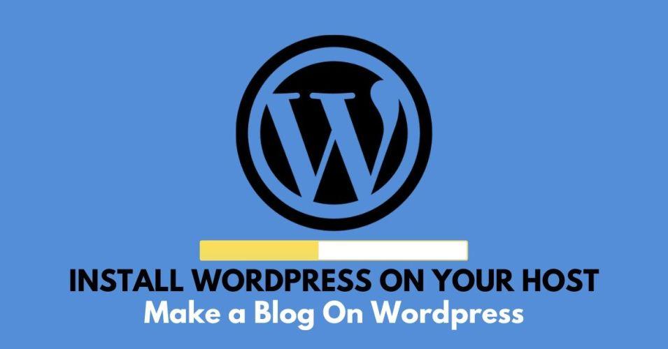 make a blog on wordpress