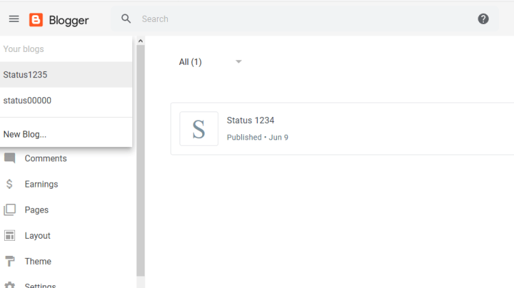 select the blog you want to delete