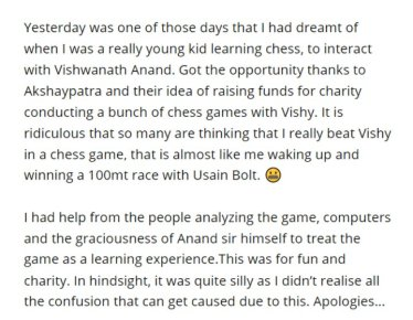 Nikhil Kamath accused cheating in chess
